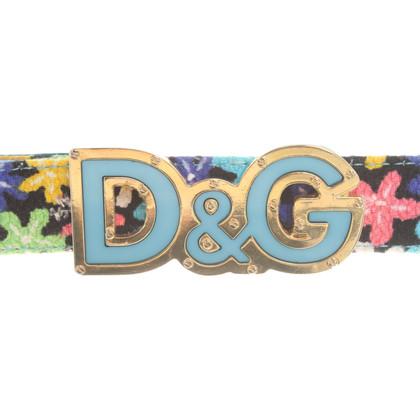 D&G Ceinture avec imprimé floral