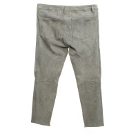Closed Wild leather trousers in grey