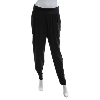 J. Mendel pantaloni di seta in nero
