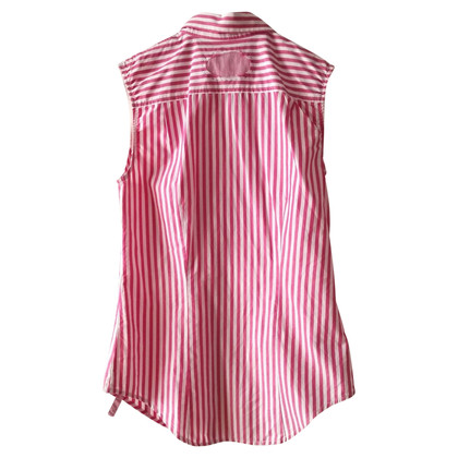 Paul Smith Sleeveless blouse with striped pattern