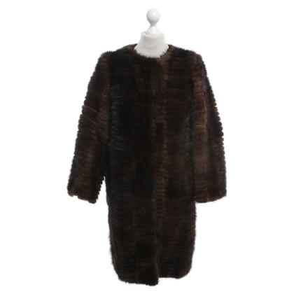 Alberta Ferretti visone cappotto