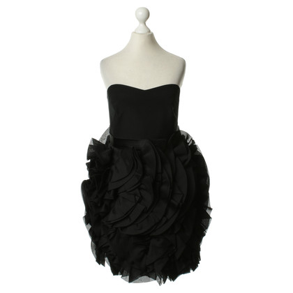 Marchesa Bustier dress in black