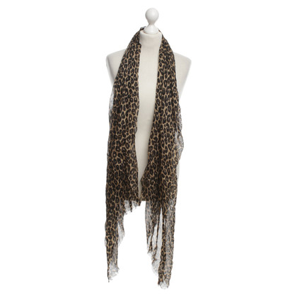 Juicy Couture silk scarf Leopard print