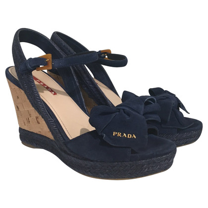Prada Wedges in blue