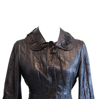 Philosophy di Alberta Ferretti Leather jacket in black