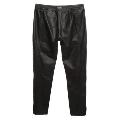 Sport Max Pantaloni di pelle in nero