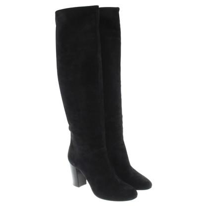 Lanvin Boots Black Suede