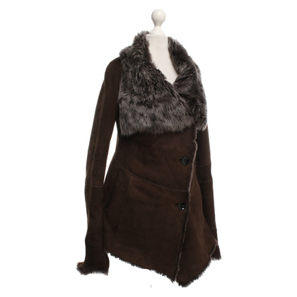 Vent Couvert Lambskin jacket in brown