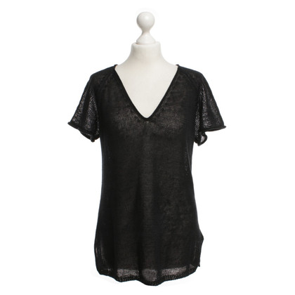 Filippa K Leinen-Shirt in Schwarz