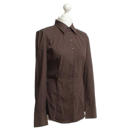Strenesse Blue Camicia camicetta in marrone scuro