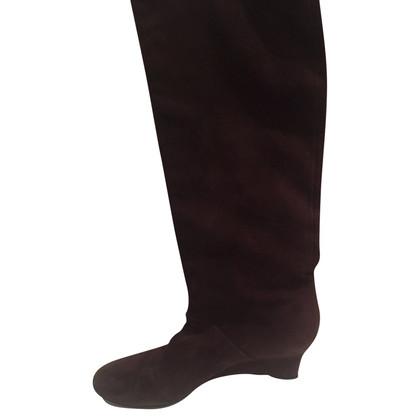 Gucci Stivali di pelle scamosciata
