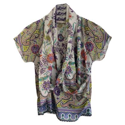 Etro Wrap blouse in silk