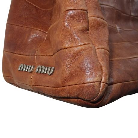 Freies Verschiffen Hohe Qualität Miu Miu Handtasche in Braun Braun Rabatt Echt Freies Verschiffen Niedrig Versandkosten 4R3DRTOI