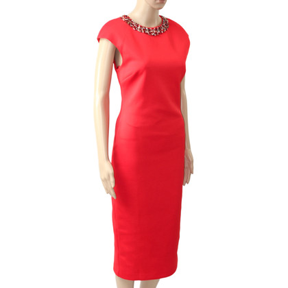 Ted Baker Midi Dress in Red