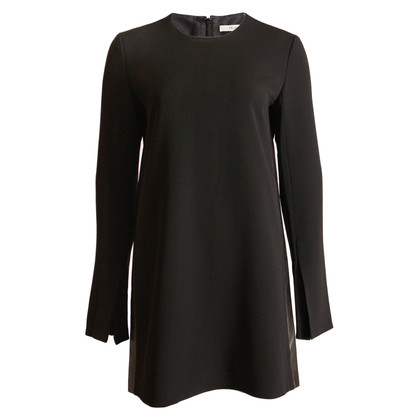 Céline black dress with leather details