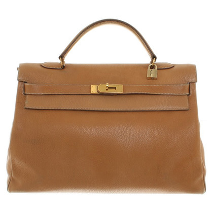 "Hermès ""Kelly Bag 40 Clemence Leather"""