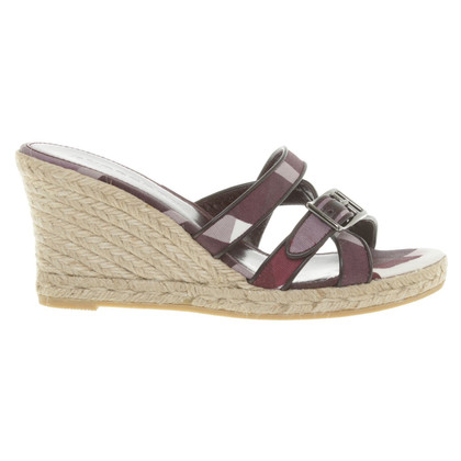 Burberry Wedges with pattern