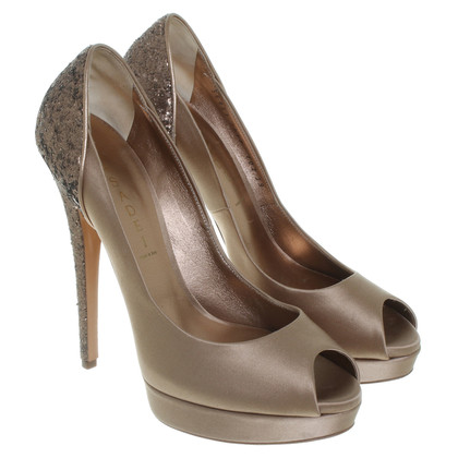 Casadei Peeptoes in Beige/Bronze