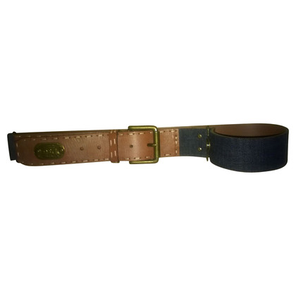 D&G denim and leather belt