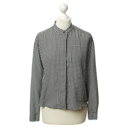 Michael Kors Checkered blouse in black and white
