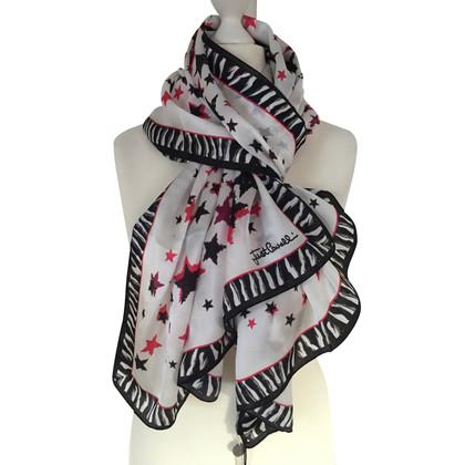 Just Cavalli Silk scarf with print