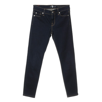 7 For All Mankind Skinny jeans in donkerblauw