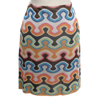 Missoni skirt with colorful pattern