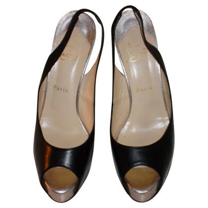 Christian Louboutin Platform of slingback peep-toes