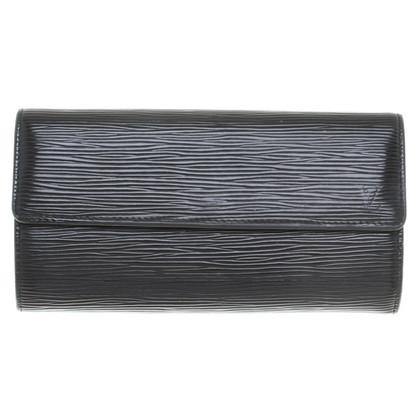 Louis Vuitton Portemonnaie aus Epileder in Schwarz