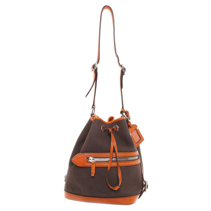 Prada Emmer Bag van canvas / leer