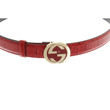 Gucci Belt in red