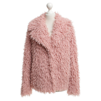 Marc Cain Plush jacket in rose