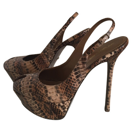 Sergio Rossi Slingbacks Python Leather