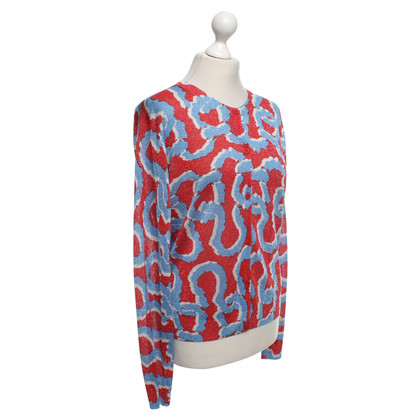Kenzo Cardigan in red / blue / white