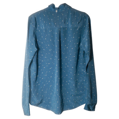 Equipment Blue silk blouse