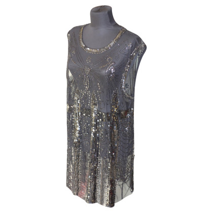 Pierre Balmain top sequin en noir