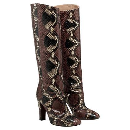 Valentino Stiefel aus Schlangenleder