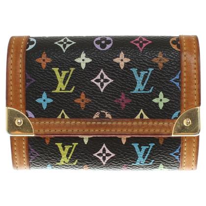 Louis Vuitton Portemonnaie in Monogram Multicolore Noir