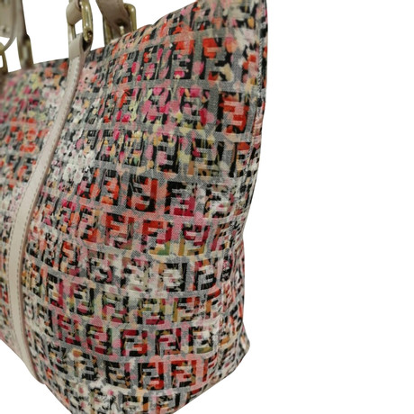 Fendi Shopper Bunt / Muster Outlet Großer Verkauf Günstig Kaufen Gut Verkaufen Rabatt Genießen Spielraum Zuverlässig Für Schön Zu Verkaufen eN63q1L
