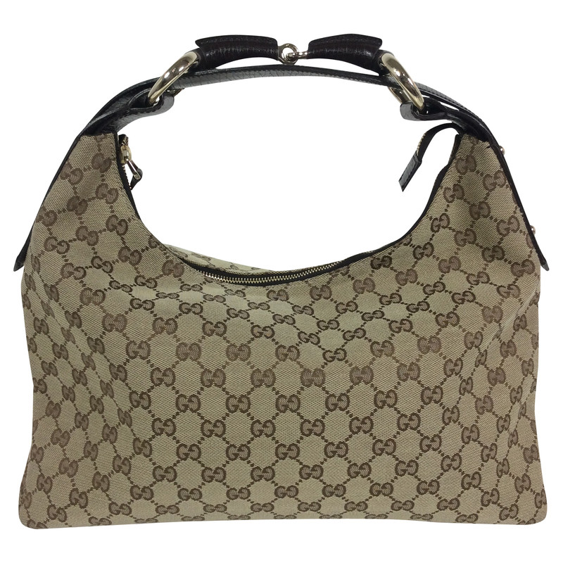 Zelfgemaakte Stoffen Tassen : Gucci stof tas met logo koop tweedehands