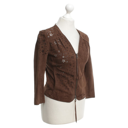 Marc Cain Leather jacket in brown