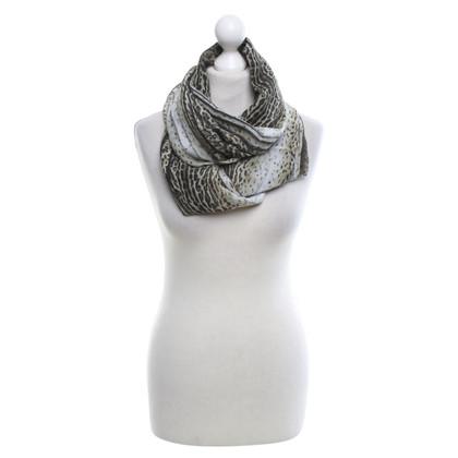 Roberto Cavalli silk scarf with animal print