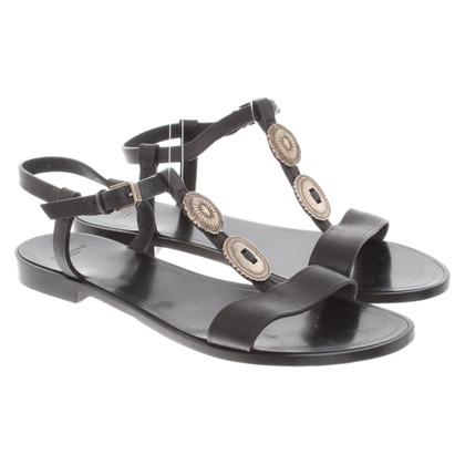 Saint Laurent Sandals in black