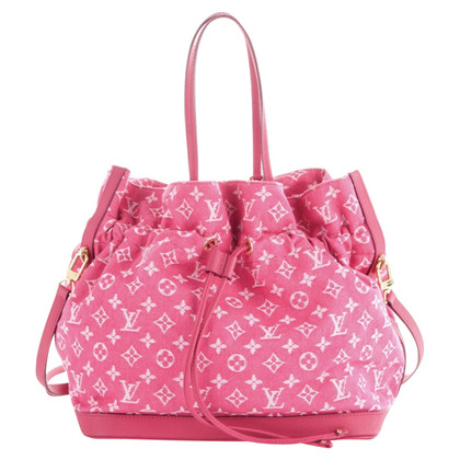 Louis Vuitton Handbag Monogram Denim Pink
