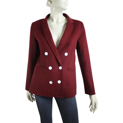 Sandro Double breasted blazer in Bordeaux