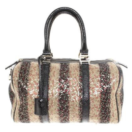 Fendi Handtasche mit Streifen/Pailletten