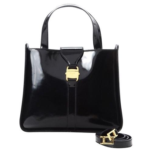 5cccf35e5ceb Salvatore Ferragamo Patent leather handbag - Second Hand Salvatore ...