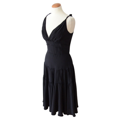 Prada black silk evening dress