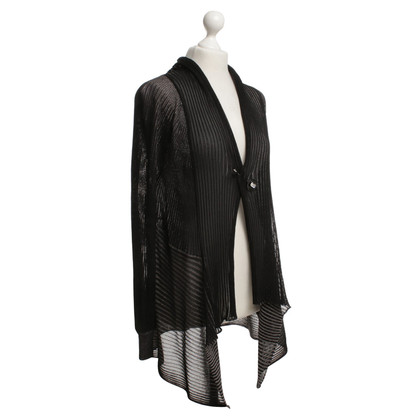 Escada Cardigan in nero / argento