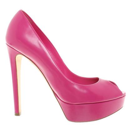 Christian Dior Peep-tenen in Pink